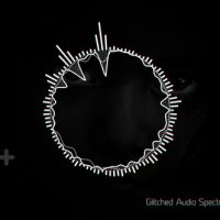 VIDEOHIVE GLITCHED AUDIO SPECTRUM MUSIC VISUALIZER