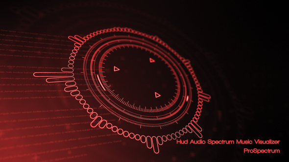 VIDEOHIVE HUD AUDIO SPECTRUM MUSIC VISUALIZER - Free After Effects