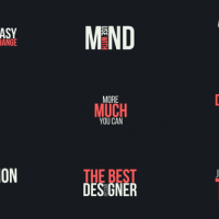 VIDEOHIVE TYPOGRAPHY TITLES PACK