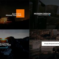 VIDEOHIVE MINIMAL INTRO TITLES PACK LV