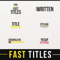 VIDEOHIVE FAST TITLES 13635649