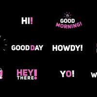 "VIDEOHIVE PHRASE KINETIC TYPOGRAPHY ""HI"""
