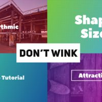 VIDEOHIVE DON'T WINK – TYPOGRAPHIC INTRO
