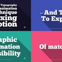 VIDEOHIVE FLAT TYPOGRAPHY