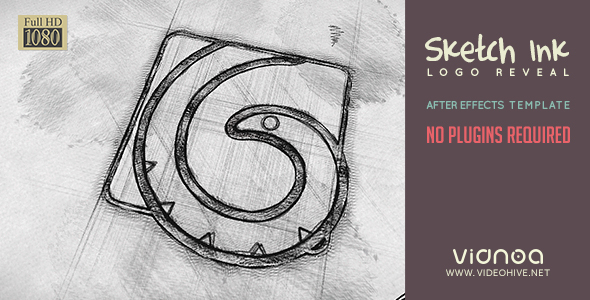 VIDEOHIVE SKETCH INK LOGO REVEAL - Free After Effects Template