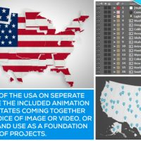 VIDEOHIVE USA MAP KIT