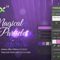 VIDEOHIVE TYPEX – TEXT ANIMATION TOOL | MAGICAL PARTICLES PACK: HANDWRITTEN CALLIGRAPHY TITLES