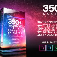 VIDEOHIVE 350+ PACK: TRANSITIONS, TITLES, SOUND FX