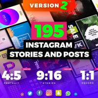 VIDEOHIVE INSTAGRAM STORIES AND POSTS PACK