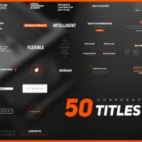 VIDEOHIVE 50 STYLISH CORPORATE TITLES PACK