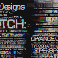 VIDEOHIVE GLITCH TEXT EFFECTS TOOLKIT + 30 TITLE ANIMATION PRESETS