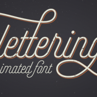 VIDEOHIVE ANIMATED LETTERING FONT