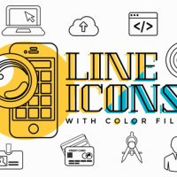 VIDEOHIVE BUSINESS LINE ICONS