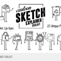 VIDEOHIVE CARTOON SKETCH EXPLAINER TOOLKIT