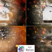 VIDEOHIVE CINEMATIC FIRE IMPACT LOGO – APPLE MOTION TEMPLATES