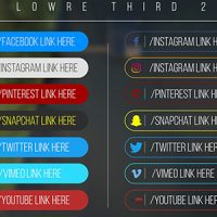 VIDEOHIVE MINIMAL SOCIAL MEDIA LOWER THIRDS