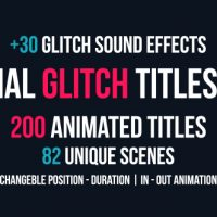 VIDEOHIVE MINIMAL GLITCH TITLES PACK + 30 GLITCH SOUND EFFECTS