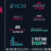 VIDEOHIVE MOTION TITLES PACK