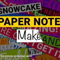 VIDEOHIVE PAPER NOTES MAKER – TITLES AND LOWER THIRDS