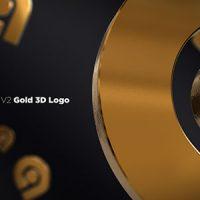 VIDEOHIVE GOLD 3D LOGO OPENER