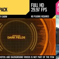 VIDEOHIVE DARK FIELDS (BROADCAST PACK)