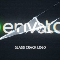VIDEOHIVE GLASS CRACK LOGO