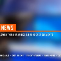 VIDEOHIVE LOCAL NEWS BROADCAST LOWER THIRD PACKAGE