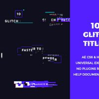 VIDEOHIVE 10 GLITCH TITLES