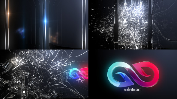 VIDEOHIVE ABSTRACT GLASS SHATTER LOGO OPENER - Free After Effects
