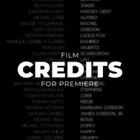 VIDEOHIVE FILM CREDITS – PREMIERE PRO
