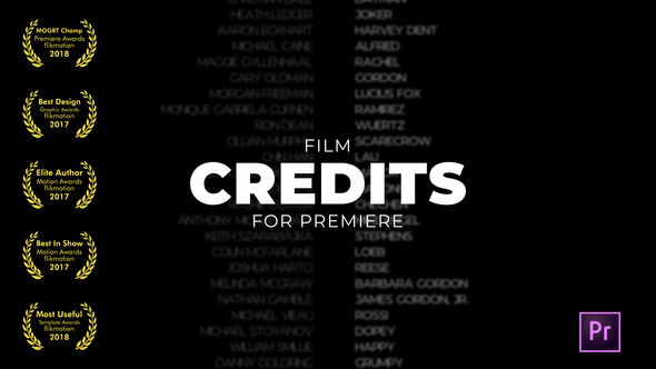 VIDEOHIVE FILM CREDITS - PREMIERE PRO - Free After Effects