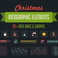 VIDEOHIVE 32 CHRISTMAS INFOGRAPHIC ELEMENTS