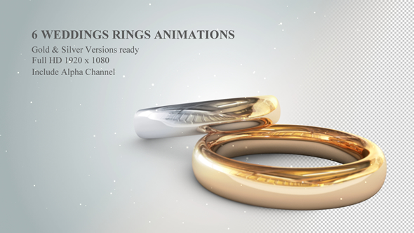 Videohive 6 3d Wedding Rings Animations Free After Effects