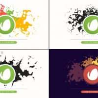 VIDEOHIVE MINIMAL PAINT SPLATTER ART LOGO REVEAL