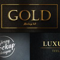 VIDEOHIVE GOLD MOCKUP KIT – GLOSSY LOGO & TITLES