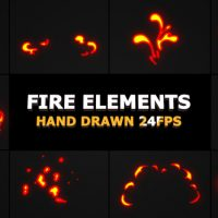 VIDEOHIVE FLASH FX FLAME ELEMENTS