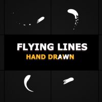 VIDEOHIVE HAND DRAWN FLYING LINES