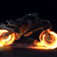 VIDEOHIVE MOTORCYCLE FIRE REVEAL