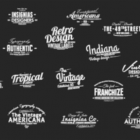 VIDEOHIVE VINTAGE TYPOGRAPHY PACK 26 ANIMATED BADGES | MOGRT – PREMIERE PRO