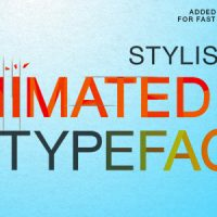 VIDEOHIVE STYLISH ANIMATED TYPEFACE