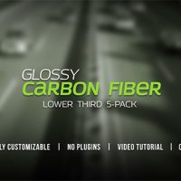 VIDEOHIVE GLOSSY CARBON FIBER LOWER THIRDS