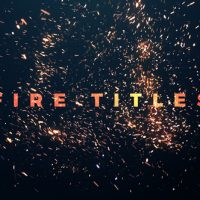 VIDEOHIVE FIRE TITLES – PREMIERE PRO