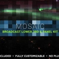VIDEOHIVE MOSAIC LOWER THIRD & TITLE KIT