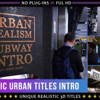 VIDEOHIVE REALISTIC URBAN 3D TITLES INTRO