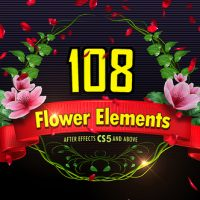 VIDEOHIVE 108 FLOWER ELEMENTS