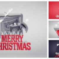 VIDEOHIVE CHRISTMAS GREETINGS PAPER CUT