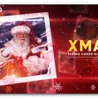VIDEOHIVE CHRISTMAS FLYING CARDS SLIDESHOW