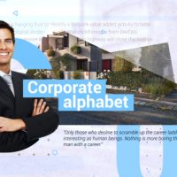 VIDEOHIVE CORPORATE ALPHABET SLIDESHOW