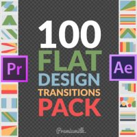 VIDEOHIVE FLAT DESIGN TRANSITIONS PACK | MOGRT – PREMIERE PRO