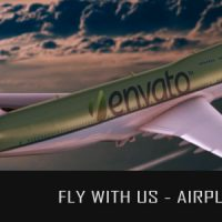 VIDEOHIVE FLY WITH US – AIRPLANE LOGO